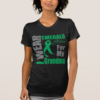 Liver Cancer I Wear Emerald Green Grandma Shirts