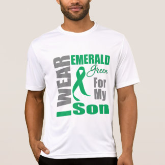 Liver Cancer I Wear Emerald Green Son Shirt