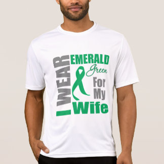 Liver Cancer I Wear Emerald Green Wife Shirt