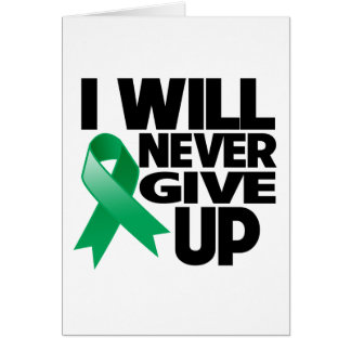 Liver Cancer I Will Never Give Up Card