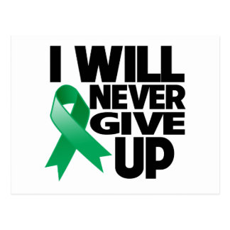 Liver Cancer I Will Never Give Up Postcard