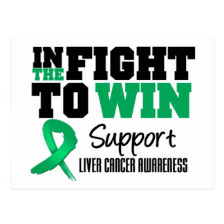 Liver Cancer In The Fight To Win Postcard