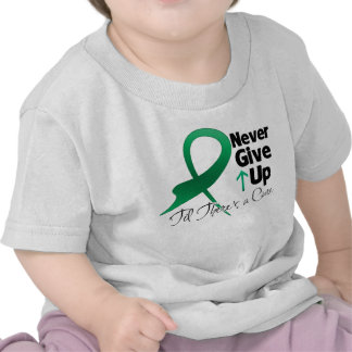 Liver Cancer Never Give Up Tee Shirt