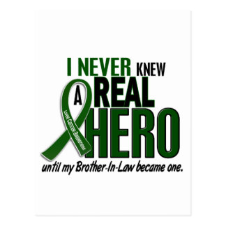 Liver Cancer NEVER KNEW A HERO 2 Brother-In-Law Postcard