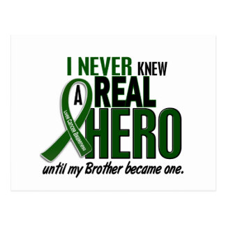Liver Cancer NEVER KNEW A HERO 2 Brother Postcard