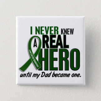 Liver Cancer NEVER KNEW A HERO 2 Dad 15 Cm Square Badge