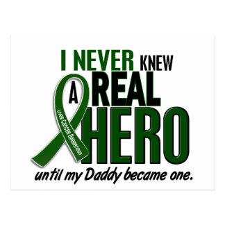Liver Cancer NEVER KNEW A HERO 2 Daddy Postcard