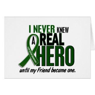 Liver Cancer NEVER KNEW A HERO 2 Friend Card