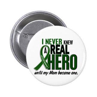 Liver Cancer NEVER KNEW A HERO 2 Mom 6 Cm Round Badge