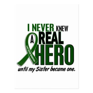 Liver Cancer NEVER KNEW A HERO 2 Sister Postcard