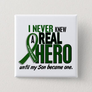 Liver Cancer NEVER KNEW A HERO 2 Son 15 Cm Square Badge