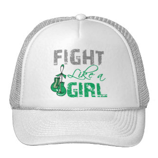 Liver Cancer Ribbon Gloves Fight Like a Girl Cap