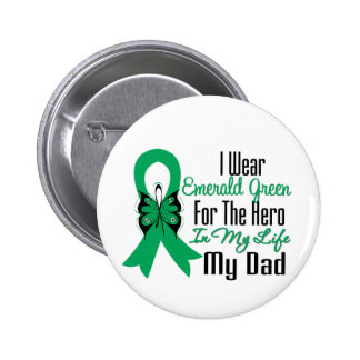 Liver Cancer Ribbon Hero My Dad 6 Cm Round Badge