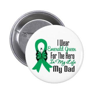 Liver Cancer Ribbon Hero My Dad 6 Cm Round Badge