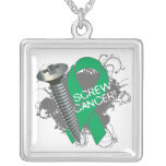 Liver Cancer - Screw Cancer Personalised Necklace