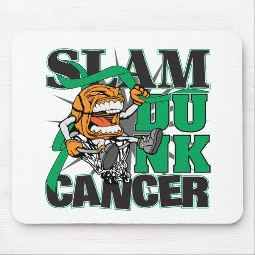 Liver Cancer - Slam Dunk Cancer Mouse Pads