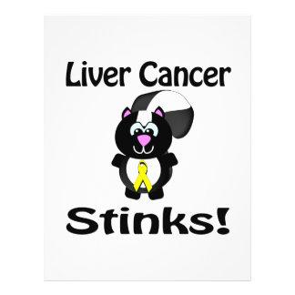 Liver Cancer Stinks Skunk Awareness Design 21.5 Cm X 28 Cm Flyer
