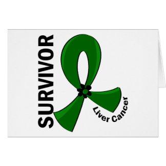 Liver Cancer Survivor 12 Greeting Card