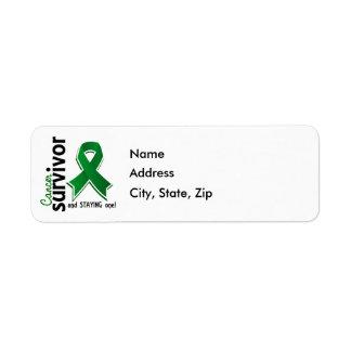 Liver Cancer Survivor 19 Return Address Label