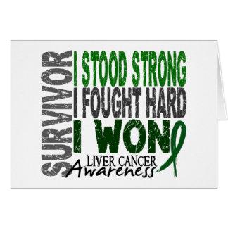 Liver Cancer Survivor 4 Greeting Cards