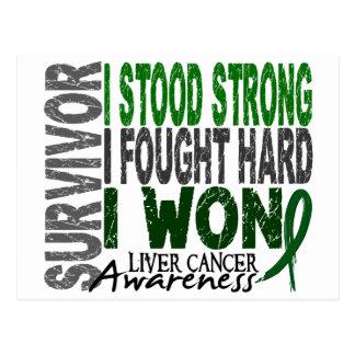 Liver Cancer Survivor 4 Postcard
