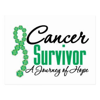 Liver Cancer Survivor Awareness Journey Ribbon Post Card