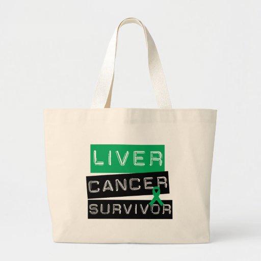 Liver Cancer Survivor Canvas Bags