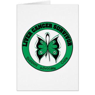 Liver Cancer Survivor Butterfly Cards