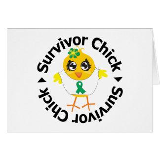 Liver Cancer Survivor Chick Greeting Cards