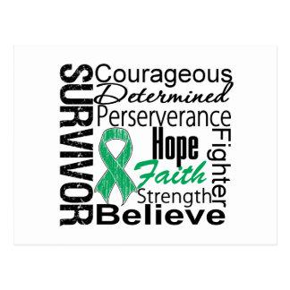 Liver Cancer Survivor Collage Postcard