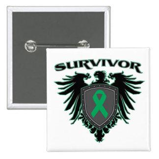 Liver Cancer Survivor Crest 15 Cm Square Badge