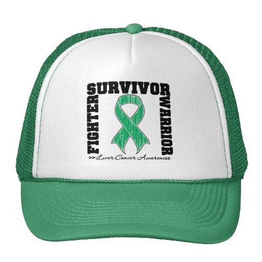 Liver Cancer Survivor Fighter Warrior Hats