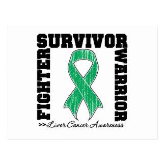 Liver Cancer Survivor Fighter Warrior Postcard