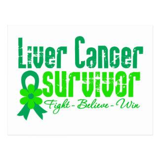 Liver Cancer Survivor Flower Ribbon Post Card