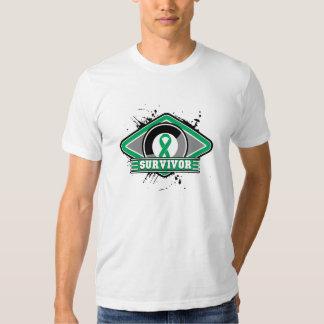 Liver Cancer Survivor Grunge Logo T Shirts