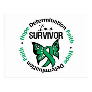 Liver Cancer Survivor Hope Determination Faith Postcard