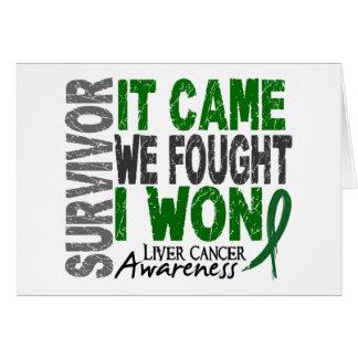 Liver Cancer Survivor It Came We Fought I Won Greeting Card