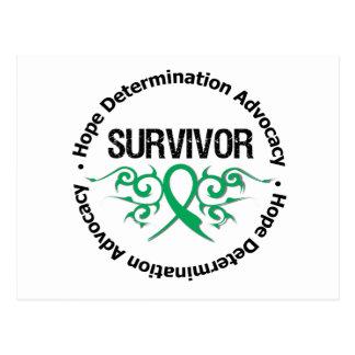 Liver Cancer Survivor Tribal Ribbon Postcard