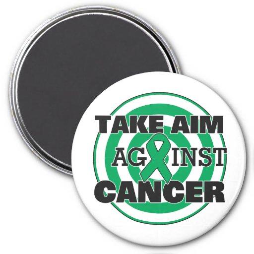 Liver Cancer Take Aim Against Cancer Refrigerator Magnets