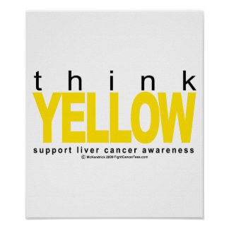 Liver Cancer Think Yellow Print