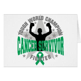 Liver Cancer Tough World Champion Survivor Greeting Card