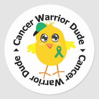 Liver Cancer Warrior Dude Sticker
