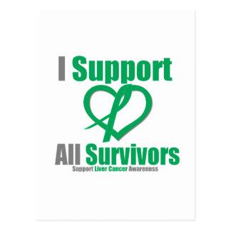 Liver CancerI Support All Survivors Postcard