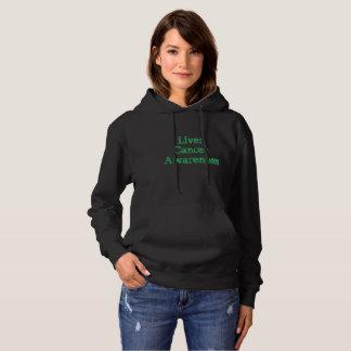 liver cnacer awareness womens hoodie