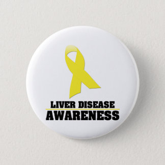 Liver Disease Awareness 6 Cm Round Badge