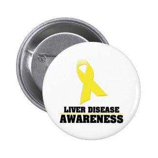 Liver Disease Awareness 6 Cm Round Badge