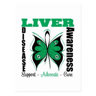 Liver Disease Awareness Butterfly Postcard