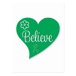 Liver Disease Believe Heart Post Card