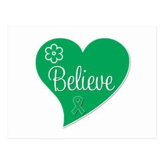 Liver Disease Believe Heart Postcard