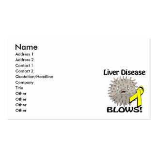 Liver Disease Blows Awareness Design Double-Sided Standard Business Cards (Pack Of 100)